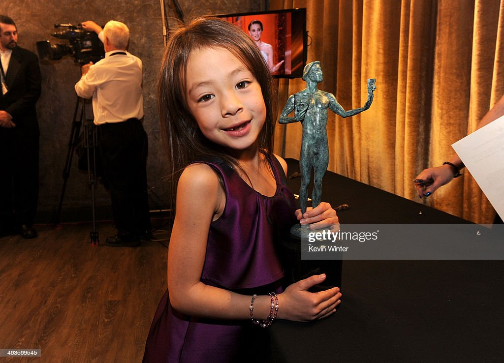 Actress Aubrey AndersonEmmons attends the 20th Annual Screen Actors Guild Awards at The Shrine Auditorium on January 18 2014 in Los Angeles California