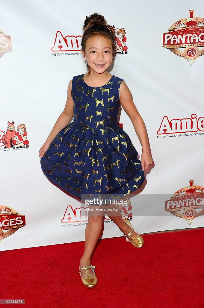 Actress Aubrey AndersonEmmons attends the Premiere of 'Annie' at the Hollywood Pantages Theatre on October 13 2015 in Hollywood California