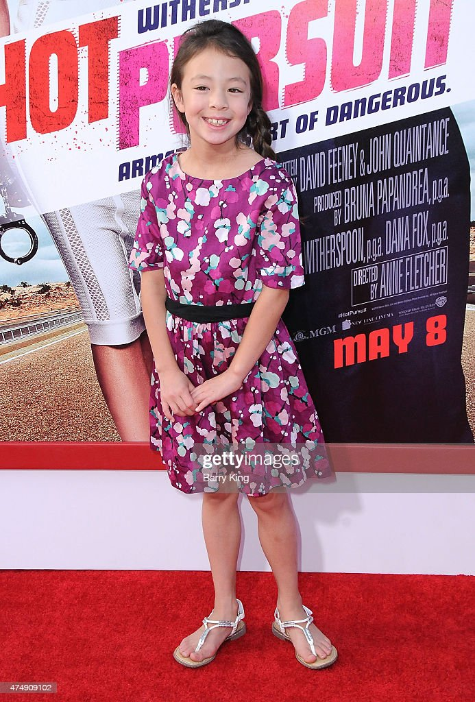 Actress Aubrey AndersonEmmons attends the premiere of 'Hot Pursuit' at TCL Chinese Theatre on April 30 2015 in Hollywood California