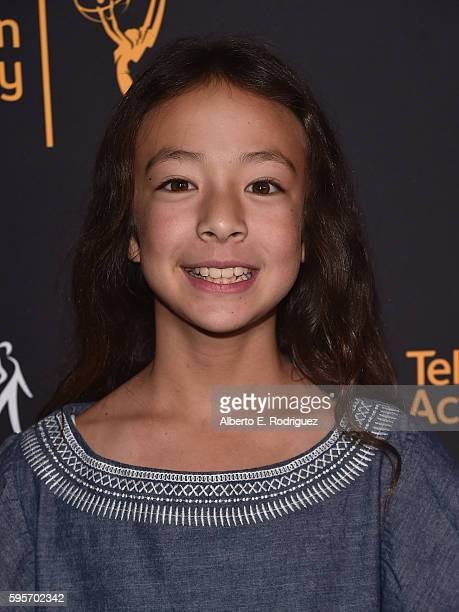 Actress Aubrey AndersonEmmons attends the Television Academy And SAGAFTRA's 4th Annual Dynamic and Diverse Celebration at The Saban Media Center on...