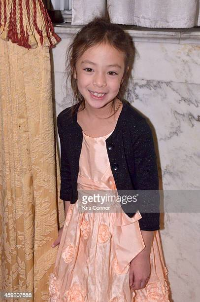 Actress Aubrey AndersonEmmons poses for a photo at the Kidsaves Annual Miracles gala at The Mayflower Renaissance Hotel on November 18 2014 in...