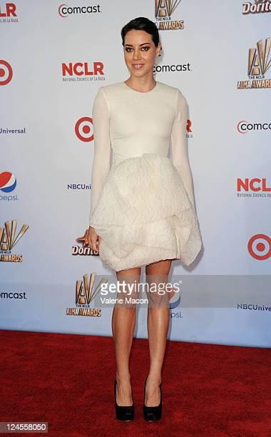 Actress Aubrey Plaza arrives at the 2011 NCLR ALMA Awards held at Santa Monica Civic Auditorium on September 10 2011 in Santa Monica California