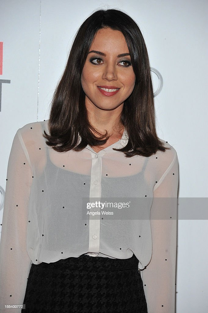 Actress <a gi-track='captionPersonalityLinkClicked' href=/galleries/search?phrase=Aubrey+Plaza&family=editorial&specificpeople=5299268 ng-click='$event.stopPropagation()'>Aubrey Plaza</a> arrives at the 'Life Of Pi' premiere during AFI Fest 2012 presented by Audi at Grauman's Chinese Theatre on November 2, 2012 in Hollywood, California.