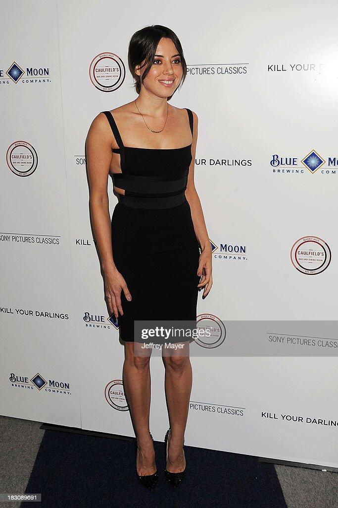 Actress Aubrey Plaza arrives at the Los Angeles premiere of 'Kill Your Darlings' at the Writers Guild Theater on October 3 2013 in Beverly Hills...