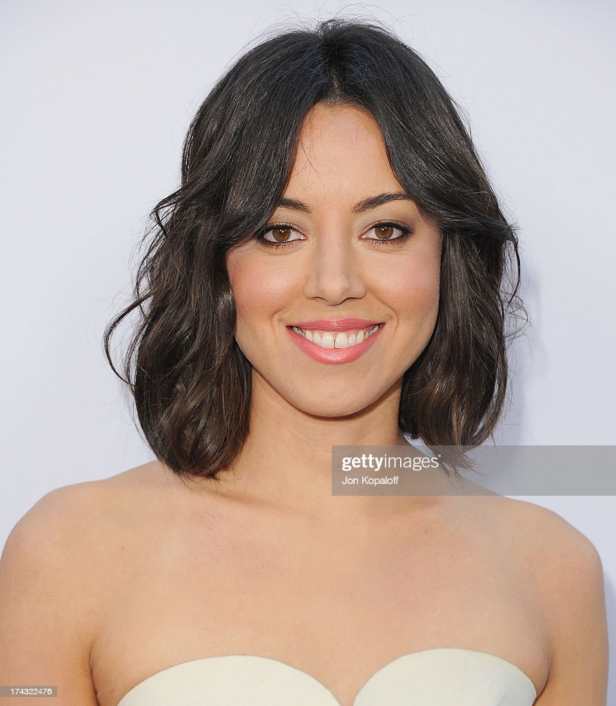 Actress Aubrey Plaza arrives at the Los Angeles Premiere 'The To Do List' at the Regency Bruin Theater on July 23, 2013 in Westwood, California.