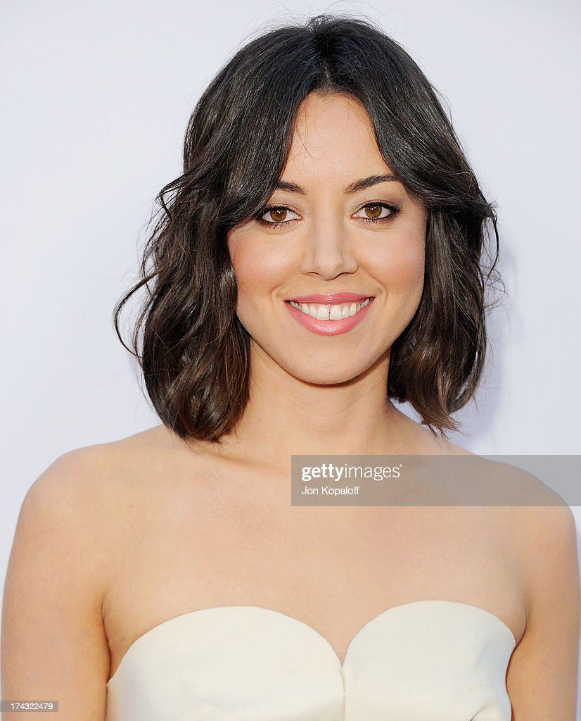 Actress <a gi-track='captionPersonalityLinkClicked' href=/galleries/search?phrase=Aubrey+Plaza&family=editorial&specificpeople=5299268 ng-click='$event.stopPropagation()'>Aubrey Plaza</a> arrives at the Los Angeles Premiere 'The To Do List' at the Regency Bruin Theater on July 23, 2013 in Westwood, California.