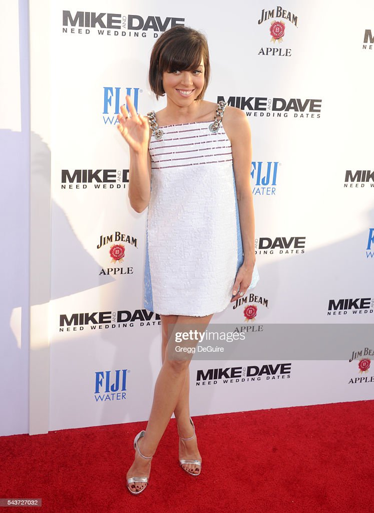 Actress Aubrey Plaza arrives at the premiere of 20th Century Fox's 'Mike And Dave Need Wedding Dates' at the Cinerama Dome at ArcLight Hollywood on...