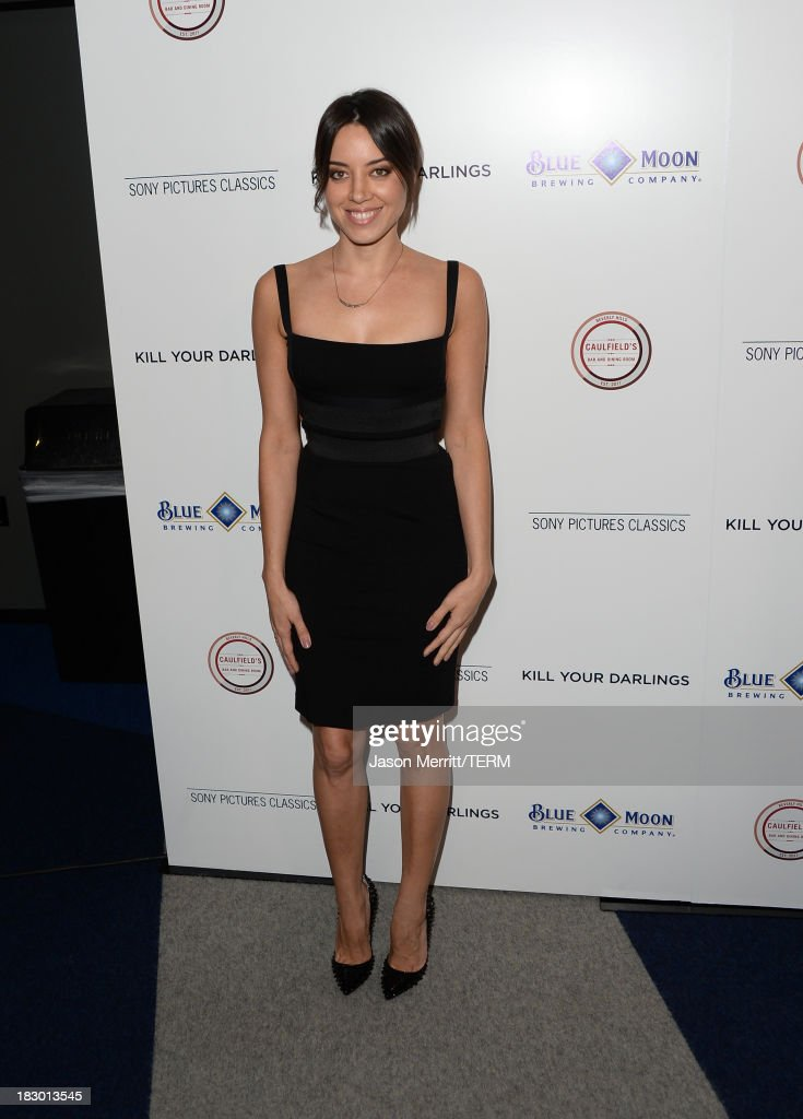 Actress <a gi-track='captionPersonalityLinkClicked' href=/galleries/search?phrase=Aubrey+Plaza&family=editorial&specificpeople=5299268 ng-click='$event.stopPropagation()'>Aubrey Plaza</a> arrives at the premiere of Sony Pictures Classics' 'Kill Your Darlings' at Writers Guild Theater on October 3, 2013 in Beverly Hills, California.