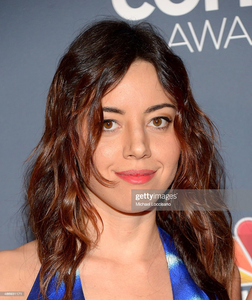 Actress <a gi-track='captionPersonalityLinkClicked' href=/galleries/search?phrase=Aubrey+Plaza&family=editorial&specificpeople=5299268 ng-click='$event.stopPropagation()'>Aubrey Plaza</a> attends 2014 American Comedy Awards at Hammerstein Ballroom on April 26, 2014 in New York City.