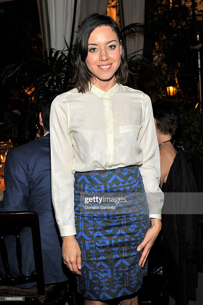 Actress <a gi-track='captionPersonalityLinkClicked' href=/galleries/search?phrase=Aubrey+Plaza&family=editorial&specificpeople=5299268 ng-click='$event.stopPropagation()'>Aubrey Plaza</a> attends a dinner in honor of Erdem hosted by Lisa Love and presented by NARS at Chateau Marmont on November 14, 2013 in Los Angeles, California.