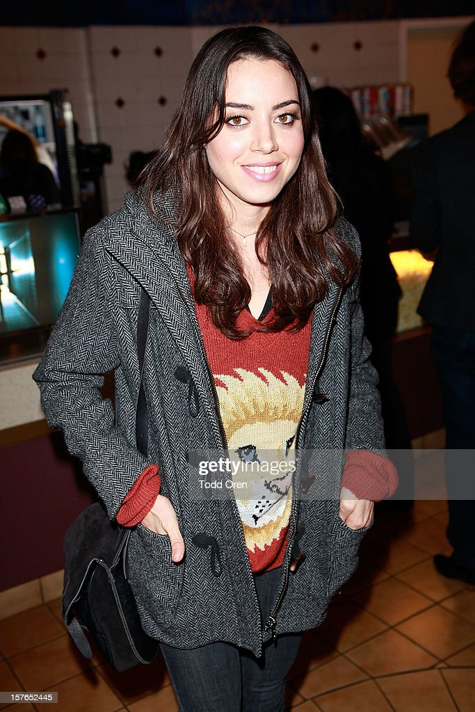 Actress Aubrey Plaza attends as Intel and W Hotels present Four Stories Film Series at W Hotel Los Angeles - Westwood on December 4, 2012 in Westwood, California.