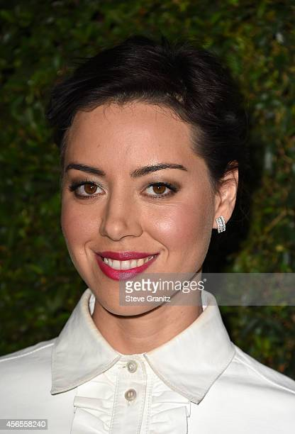Actress Aubrey Plaza attends Claiborne Swanson Frank's Young Hollywood book launch hosted by Michael Kors at Private Residence on October 2 2014 in...
