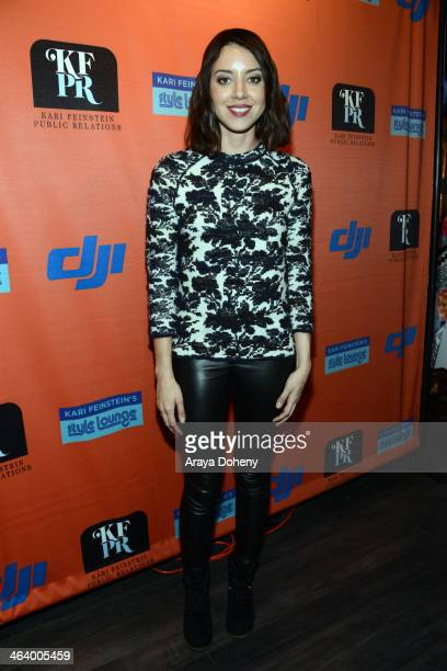 Actress Aubrey Plaza attends Kari Feinstein Style Lounge on January 19 2014 in Park City Utah
