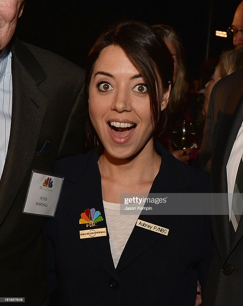 Actress <a gi-track='captionPersonalityLinkClicked' href=/galleries/search?phrase=Aubrey+Plaza&family=editorial&specificpeople=5299268 ng-click='$event.stopPropagation()'>Aubrey Plaza</a> attends NBC's 80th Page Program Anniversary Celebration at Universal Studios Hollywood on September 25, 2013 in Universal City, California.