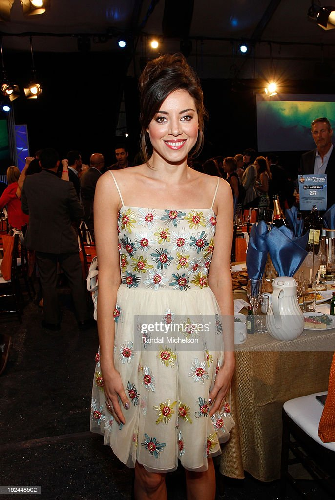 Actress Aubrey Plaza attends the 2013 Film Independent Spirit Awards at Santa Monica Beach on February 23, 2013 in Santa Monica, California.