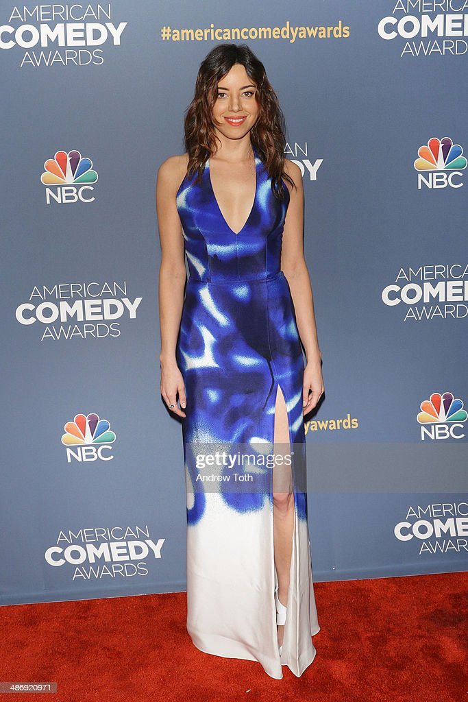 Actress Aubrey Plaza attends the 2014 American Comedy Awards at Hammerstein Ballroom on April 26 2014 in New York City