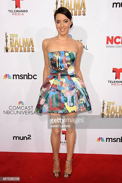 Actress Aubrey Plaza attends the 2014 NCLR ALMA Awards at Pasadena Civic Auditorium on October 10 2014 in Pasadena California