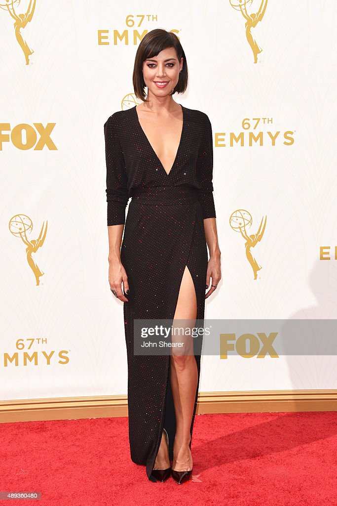 Actress Aubrey Plaza attends the 67th Annual Primetime Emmy Awards at Microsoft Theater on September 20 2015 in Los Angeles California