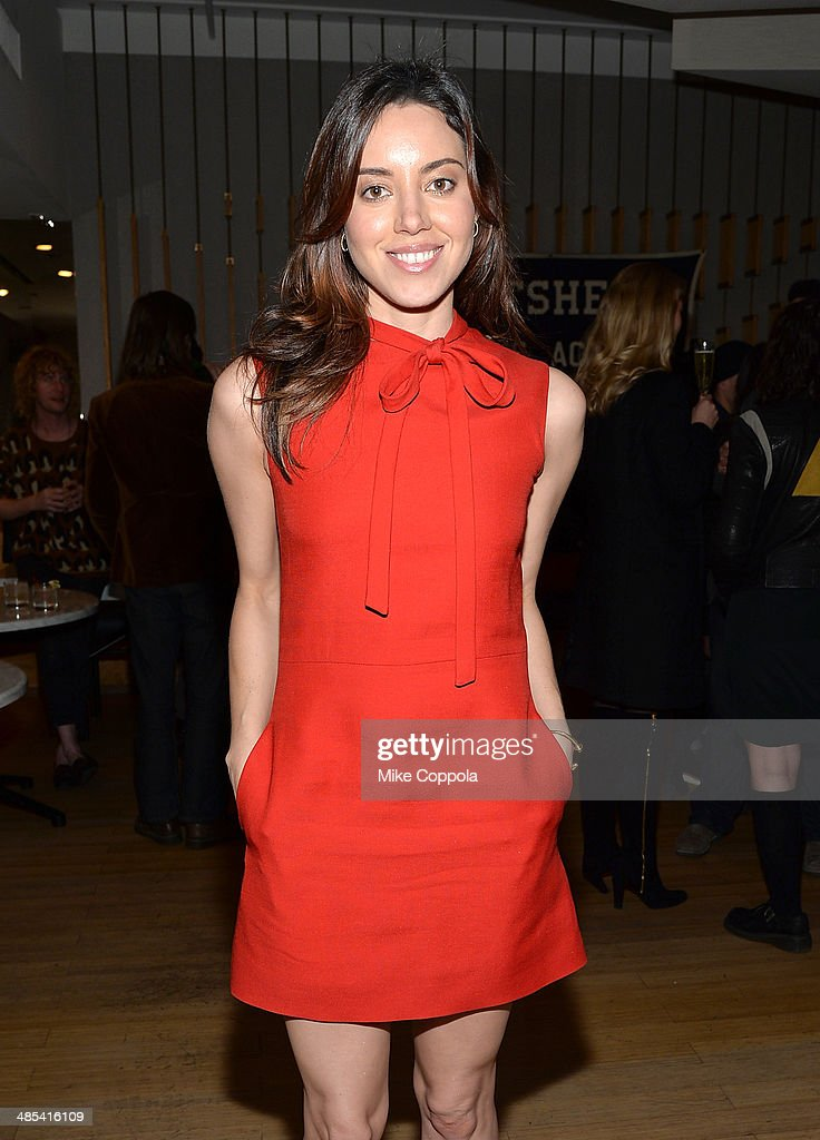 Actress <a gi-track='captionPersonalityLinkClicked' href=/galleries/search?phrase=Aubrey+Plaza&family=editorial&specificpeople=5299268 ng-click='$event.stopPropagation()'>Aubrey Plaza</a> attends the 'About Alex' Premiere after party during the 2014 Tribeca Film Festival at Kutsher's Tribeca on April 17, 2014 in New York City.
