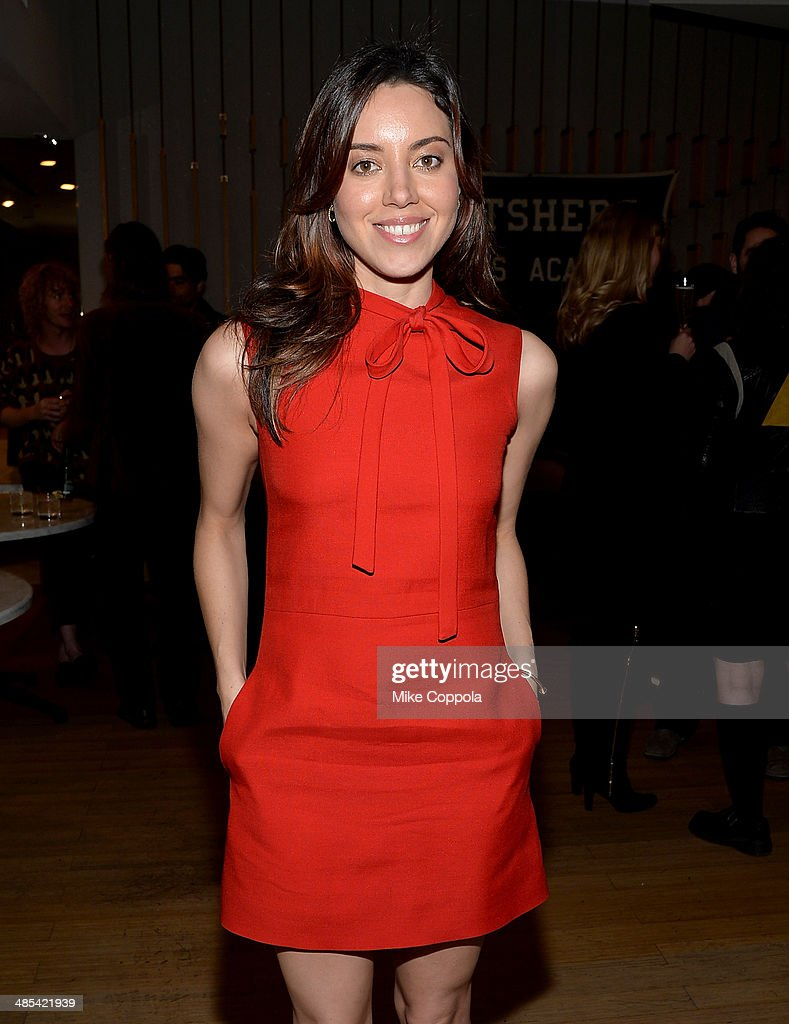Actress Aubrey Plaza attends the 'About Alex' Premiere after party during the 2014 Tribeca Film Festival at Kutsher's Tribeca on April 17 2014 in New...