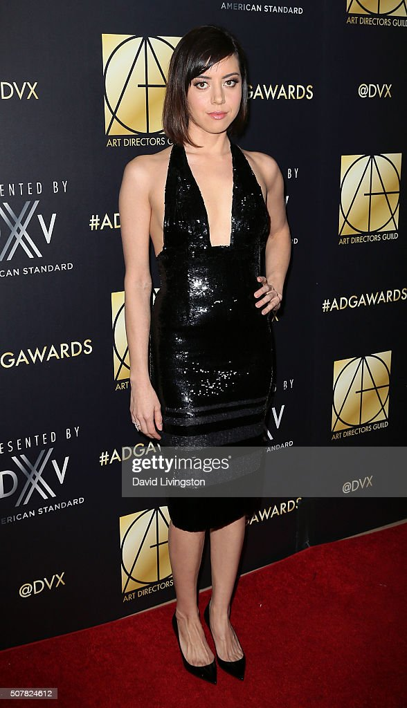 Actress Aubrey Plaza attends the Art Directors Guild 20th Annual Excellence In Production Awards at The Beverly Hilton Hotel on January 31 2016 in...