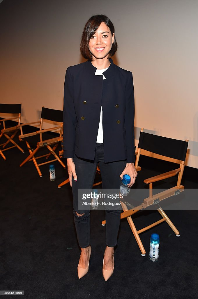 Actress Aubrey Plaza attends the 'Finders Keepers ' Los Angeles premiere during the Sundance NEXT FEST at The Theatre at Ace Hotel on August 8 2015...