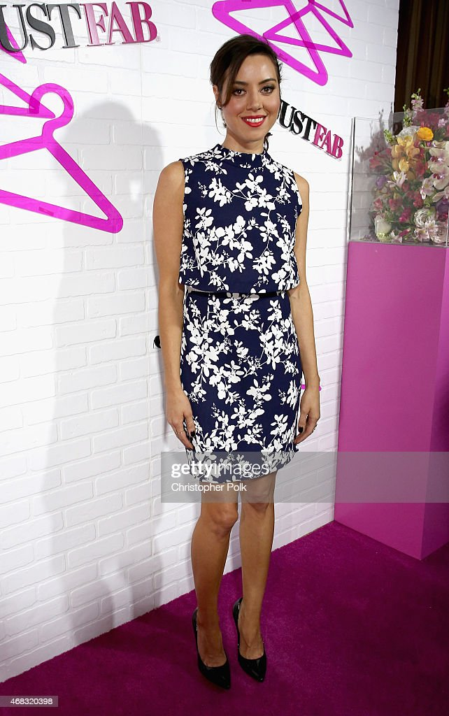 Actress Aubrey Plaza attends the JustFab Launch of ReadyToWear at Sunset Tower on April 1 2015 in West Hollywood California