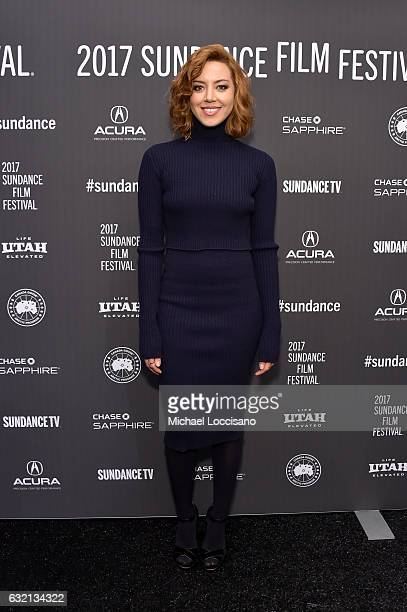 Actress Aubrey Plaza attends 'The Little Hours' premiere during day 1 of the 2017 Sundance Film Festival at Library Center Theater on January 19 2017...