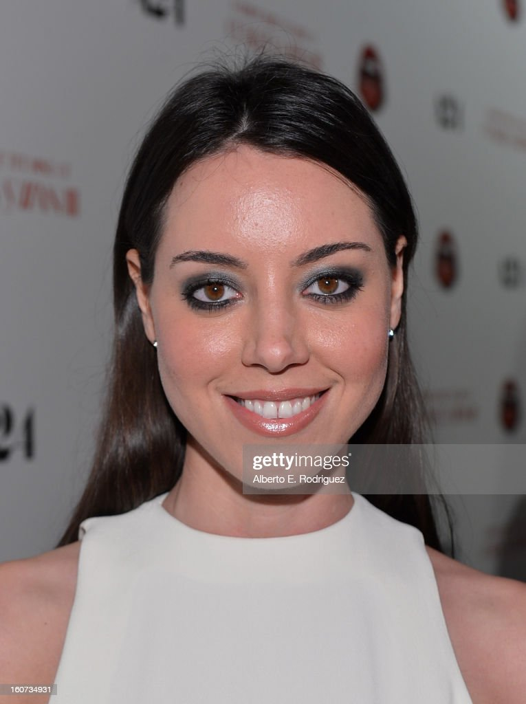 Actress Aubrey Plaza attends the Los Angeles premiere of A24's 'A Glimpse Inside The Mind Of Charles Swan III' at ArcLight Hollywood on February 4, 2013 in Hollywood, California.