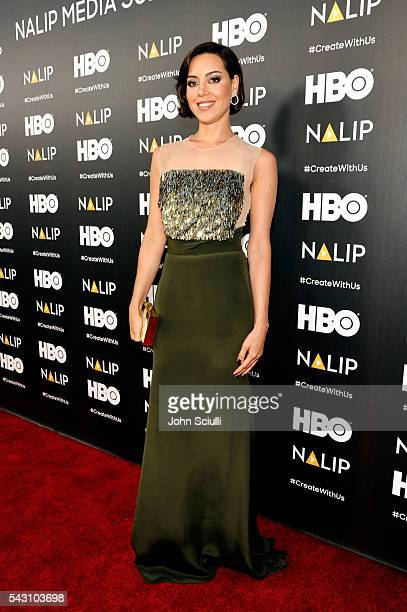 Actress Aubrey Plaza attends the NALIP 2016 Latino Media Awards at Dolby Theatre on June 25 2016 in Hollywood California
