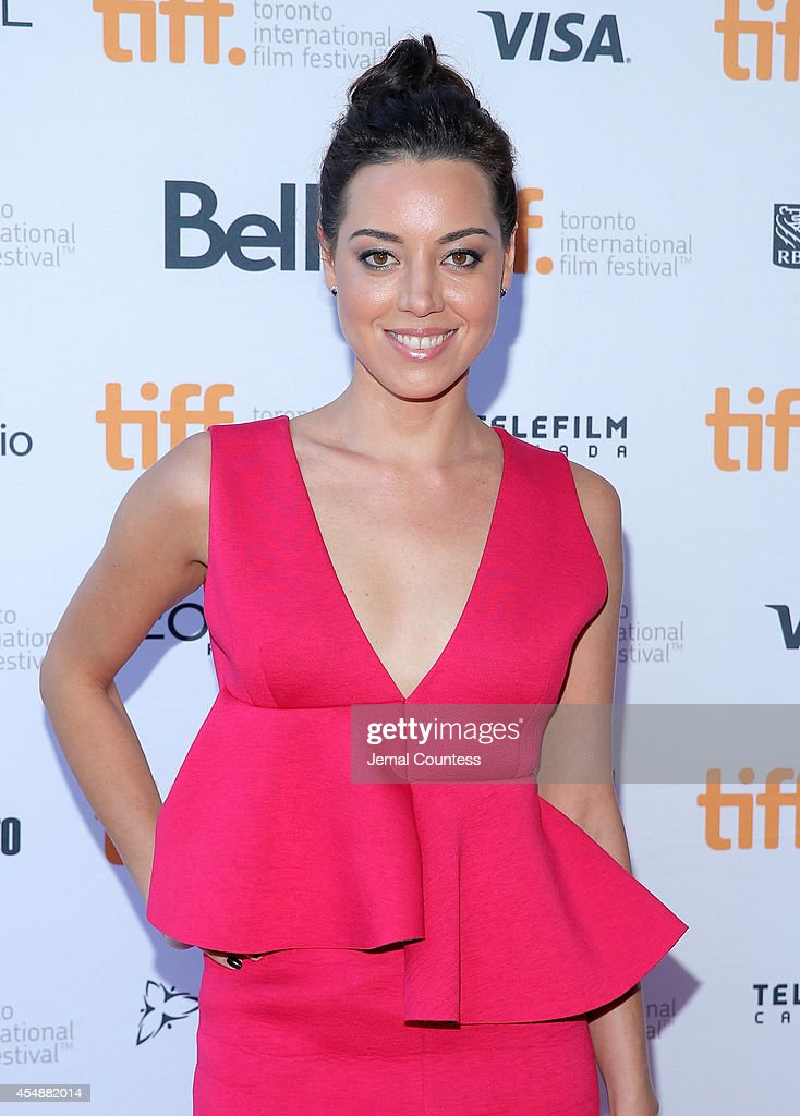 Actress Aubrey Plaza attends the 'Ned Rifle' premiere during the 2014 Toronto International Film Festival at Ryerson Theatre on September 7 2014 in...