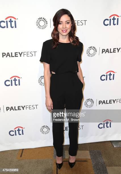 Actress Aubrey Plaza attends The Paley Center for Media's PaleyFest 2014 Honoring 'Parks and Recreation' at the Dolby Theatre on March 18 2014 in...