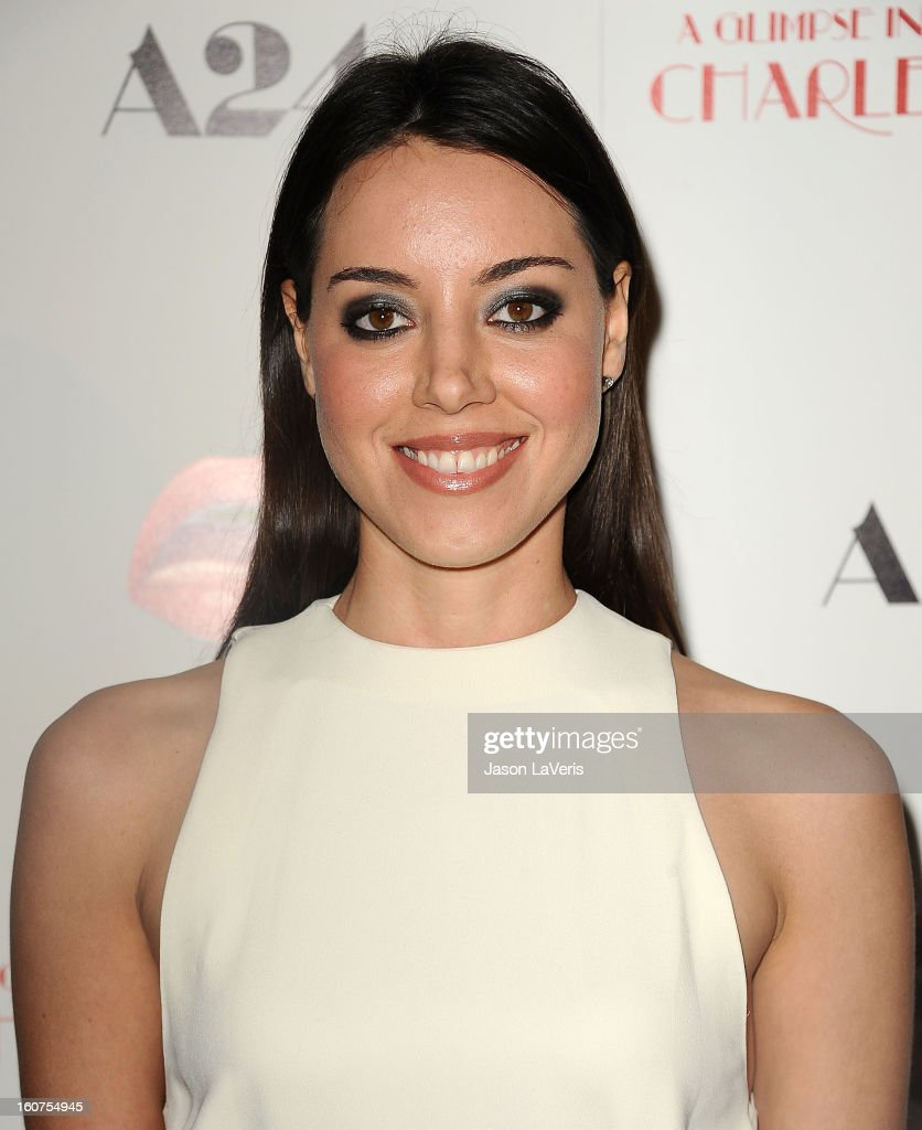 Actress Aubrey Plaza attends the premiere of 'A Glimpse Inside The Mind Of Charlie Swan III' at ArcLight Hollywood on February 4, 2013 in Hollywood, California.