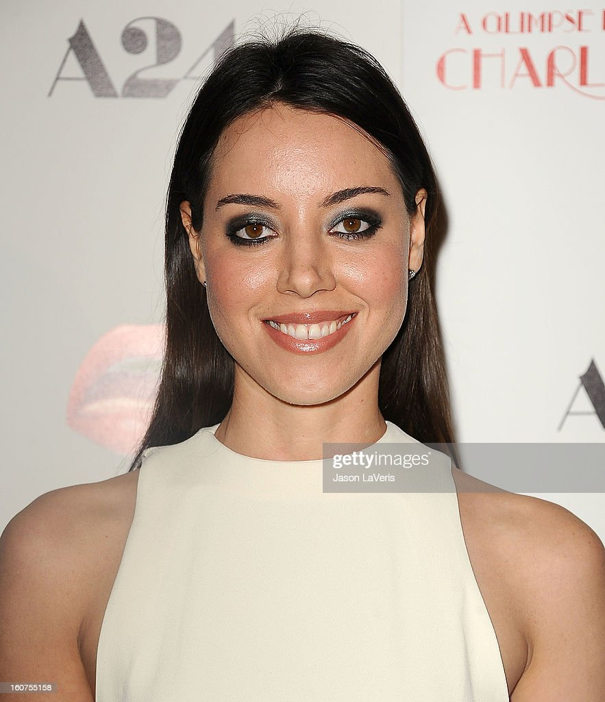 Actress <a gi-track='captionPersonalityLinkClicked' href=/galleries/search?phrase=Aubrey+Plaza&family=editorial&specificpeople=5299268 ng-click='$event.stopPropagation()'>Aubrey Plaza</a> attends the premiere of 'A Glimpse Inside The Mind Of Charlie Swan III' at ArcLight Hollywood on February 4, 2013 in Hollywood, California.