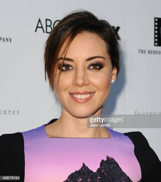 Actress Aubrey Plaza attends the premiere of 'About Alex' at ArcLight Hollywood on August 6 2014 in Hollywood California
