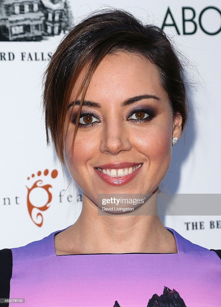 Actress <a gi-track='captionPersonalityLinkClicked' href=/galleries/search?phrase=Aubrey+Plaza&family=editorial&specificpeople=5299268 ng-click='$event.stopPropagation()'>Aubrey Plaza</a> attends the premiere of 'About Alex' at ArcLight Hollywood on August 6, 2014 in Hollywood, California.