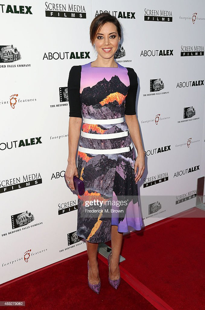 Actress <a gi-track='captionPersonalityLinkClicked' href=/galleries/search?phrase=Aubrey+Plaza&family=editorial&specificpeople=5299268 ng-click='$event.stopPropagation()'>Aubrey Plaza</a> attends the Premiere of 'About Alex' at the ArcLight Hollywood on August 6, 2014 in Hollywood, California.