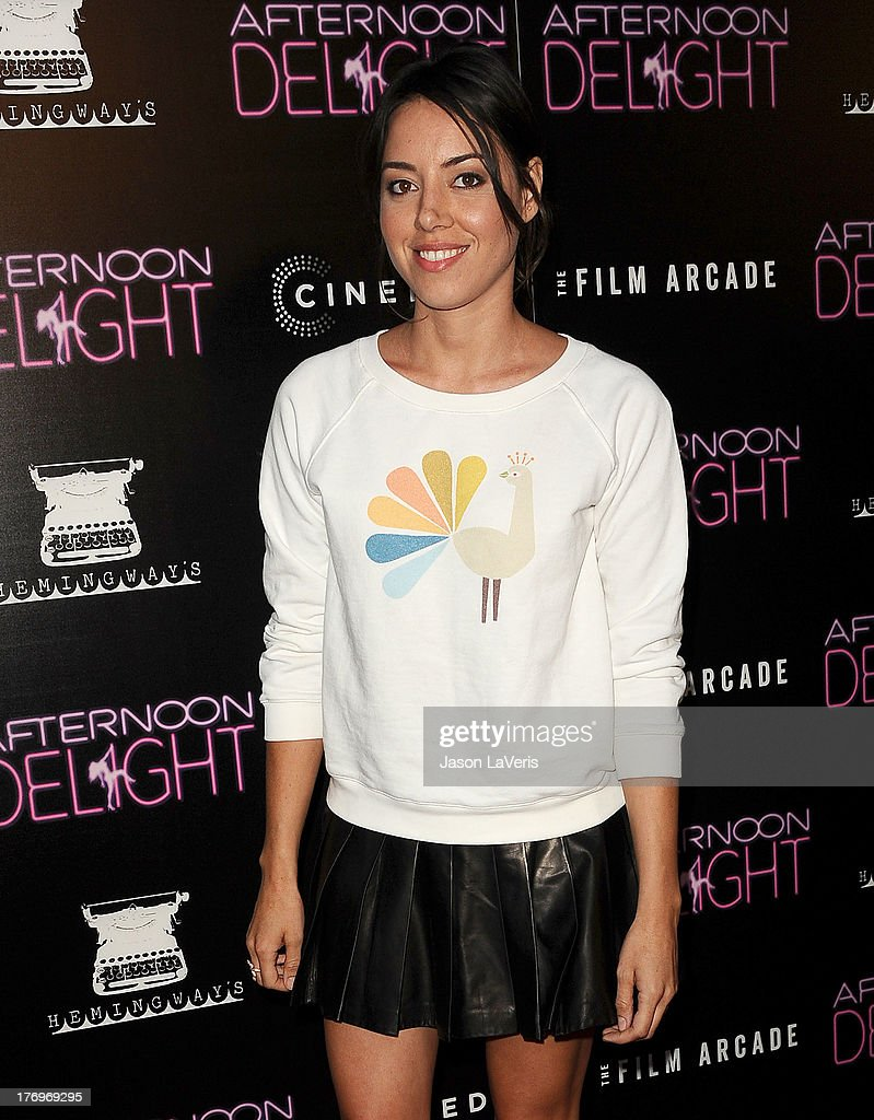 Actress <a gi-track='captionPersonalityLinkClicked' href=/galleries/search?phrase=Aubrey+Plaza&family=editorial&specificpeople=5299268 ng-click='$event.stopPropagation()'>Aubrey Plaza</a> attends the premiere of 'Afternoon Delight' at ArcLight Hollywood on August 19, 2013 in Hollywood, California.