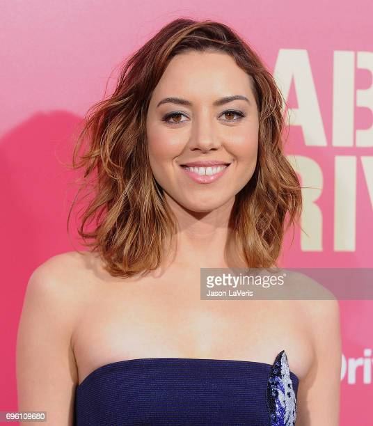 Actress Aubrey Plaza attends the premiere of 'Baby Driver' at Ace Hotel on June 14 2017 in Los Angeles California