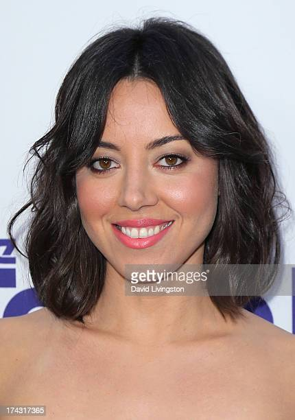 Actress Aubrey Plaza attends the premiere of CBS Films' 'The To Do List' at the Regency Bruin Theatre on July 23 2013 in Westwood California