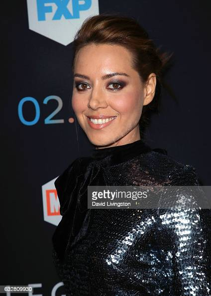 Actress Aubrey Plaza attends the premiere of FX's 'Legion' at Pacific Design Center on January 26 2017 in West Hollywood California