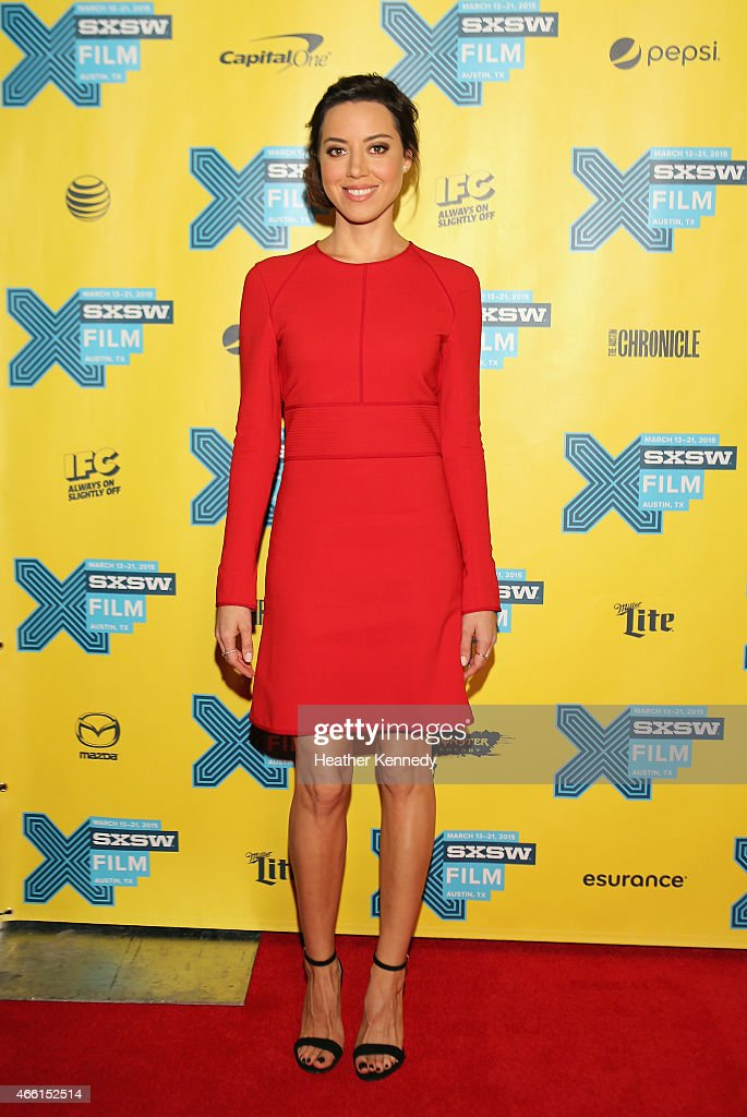 Actress Aubrey Plaza attends the premiere of 'Ned Rifle' during the 2015 SXSW Music Film Interactive Festival at Austin Convention Center on March 13...