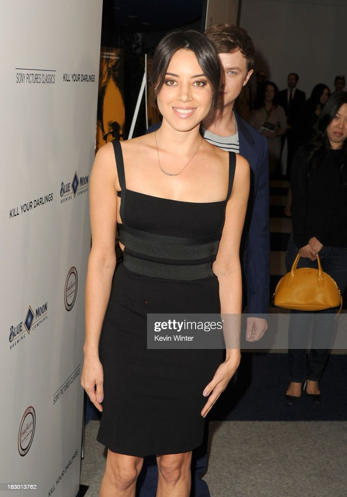 Actress <a gi-track='captionPersonalityLinkClicked' href=/galleries/search?phrase=Aubrey+Plaza&family=editorial&specificpeople=5299268 ng-click='$event.stopPropagation()'>Aubrey Plaza</a> attends the premiere of Sony Pictures Classics' 'Kill Your Darlings' at Writers Guild Theater on October 3, 2013 in Beverly Hills, California.