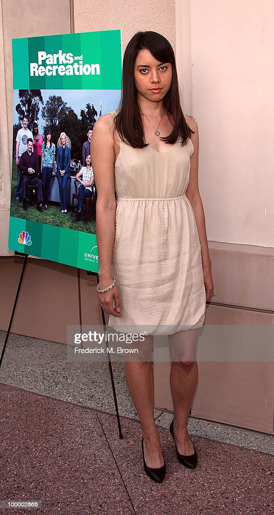 Actress Aubrey Plaza attends the screening of 'Parks and Recreation' at the Leonard H. Goldenson Theatre on May 19, 2010 in North Hollywood, California.