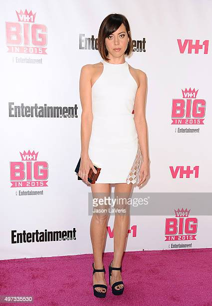 Actress Aubrey Plaza attends the VH1 Big In 2015 with Entertainment Weekly Awards at Pacific Design Center on November 15 2015 in West Hollywood...