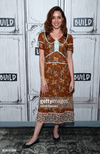 Actress Aubrey Plaza discusses 'The Little Hours' at Build Studio on June 29 2017 in New York City
