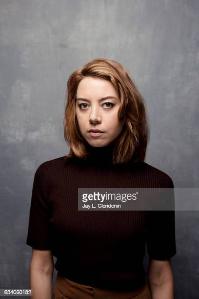 Actress Aubrey Plaza from the film 'Ingrid Goes West' is photographed at the 2017 Sundance Film Festival for Los Angeles Times on January 21 2017 in...