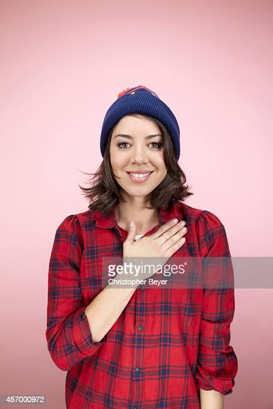 Actress Aubrey Plaza is photographed for Entertainment Weekly Magazine on January 25 2014 in Park City Utah