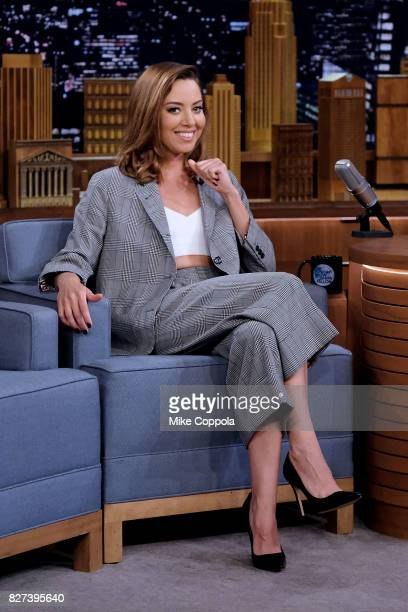 Actress Aubrey Plaza Visits 'The Tonight Show Starring Jimmy Fallon' at Rockefeller Center on August 7 2017 in New York City