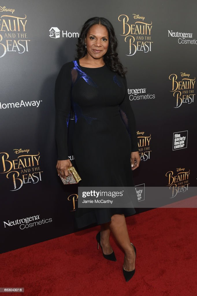 Actress Audra McDonald arrives at the New York special screening of Disney's live-action adaptation 'Beauty and the Beast' at Alice Tully Hall on March 13, 2017 in New York City.